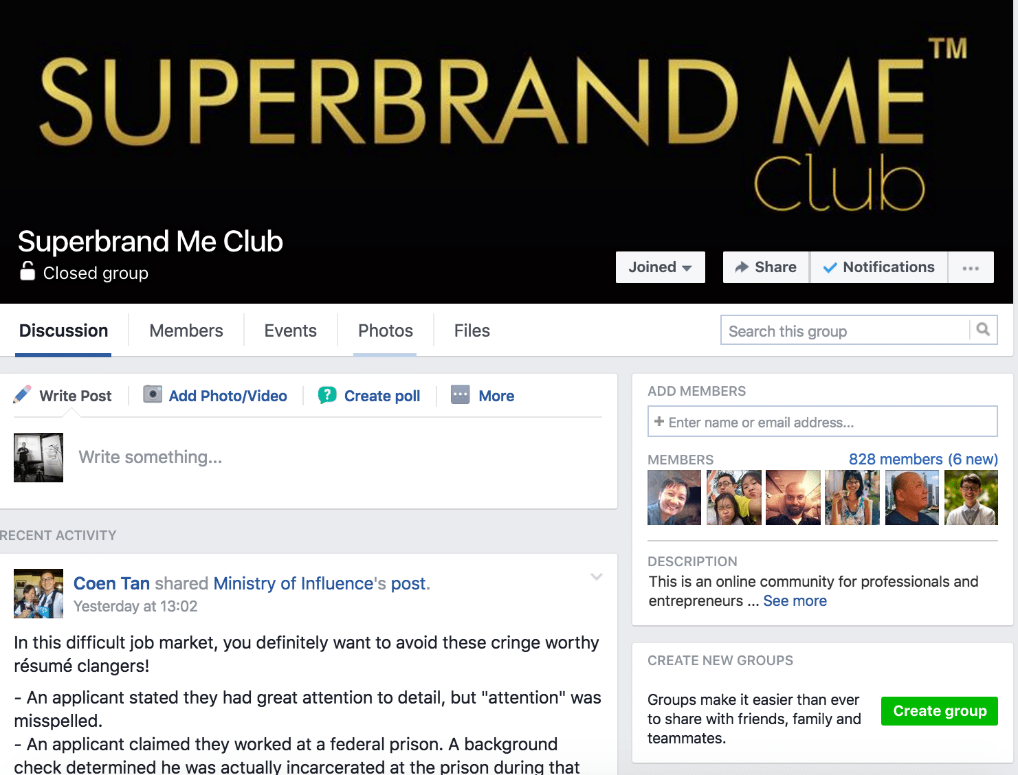 superbrand me Facebook group