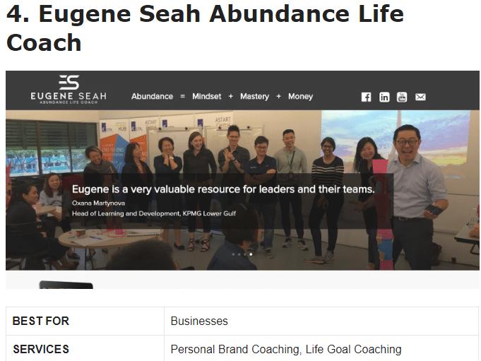 eugene best life coach singapore