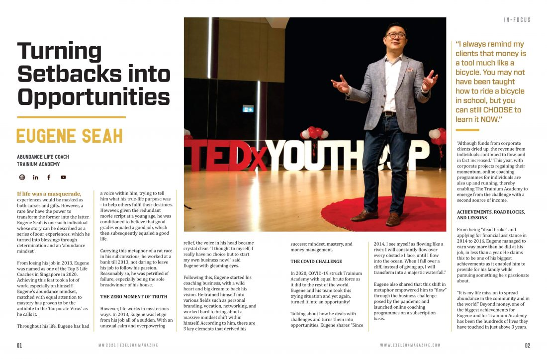 Turning Setbacks into opportunities by Eugene Seah